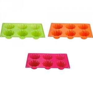Forma na muffiny - silikon oranžová - výprodej