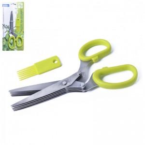 Nůžky na bylinky 5ti břity + čistítko